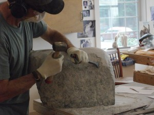 stone carving studio