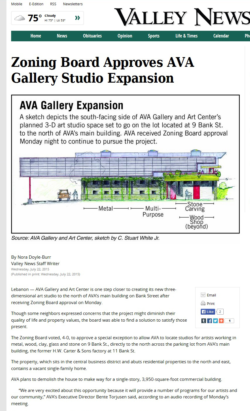Valley News AVA Zoning Board