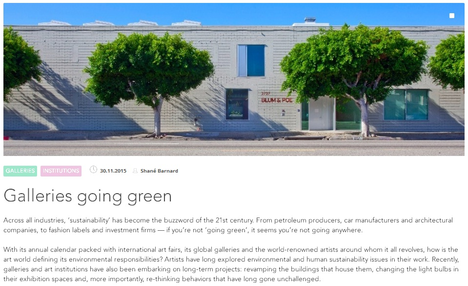 ava happening galleries going green