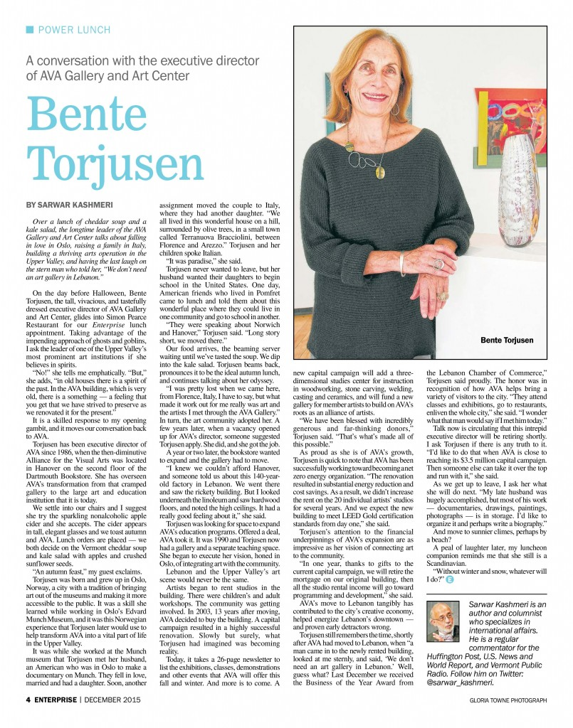 08 - 2015 Power Lunch Bente Torjusen