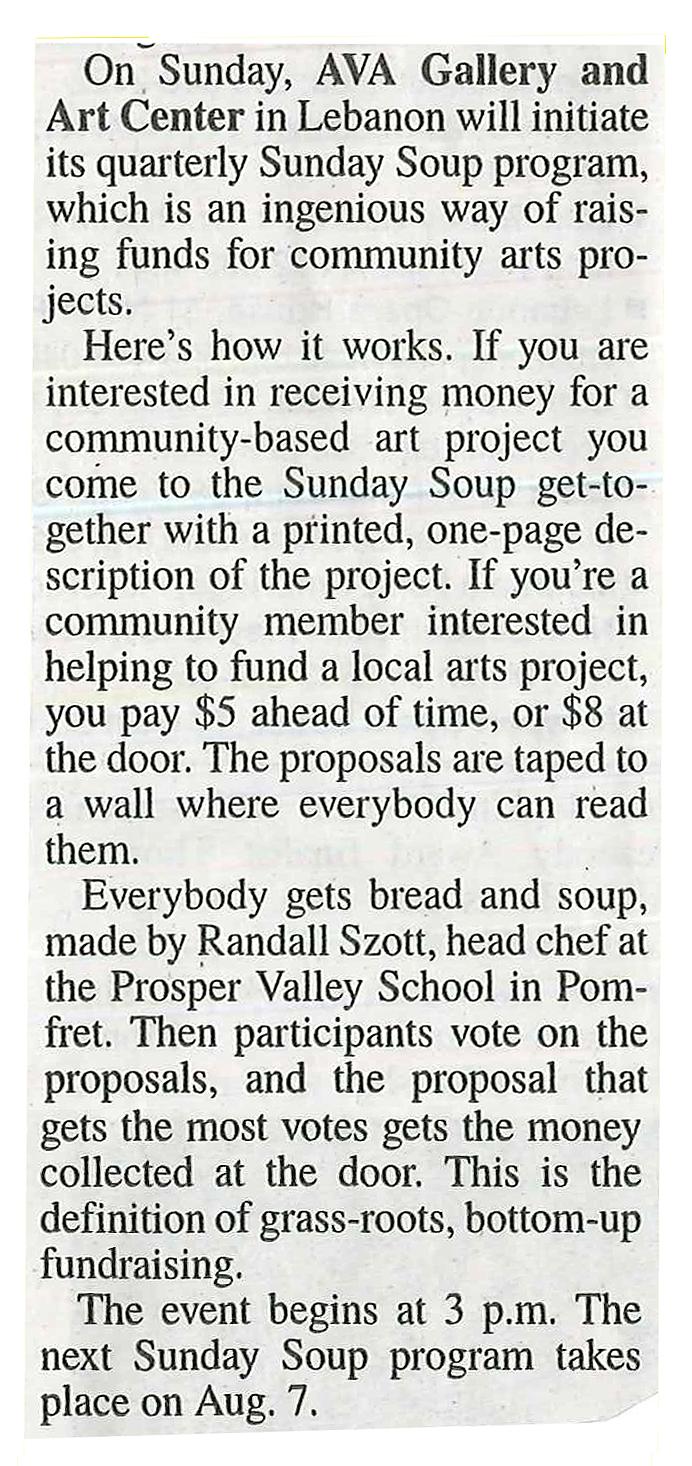 Sunday Soup Valley News 4-28-16