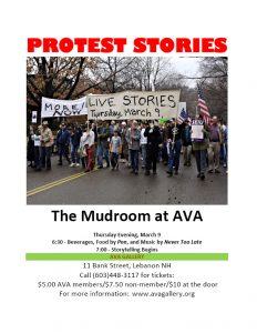 Protest stories poster