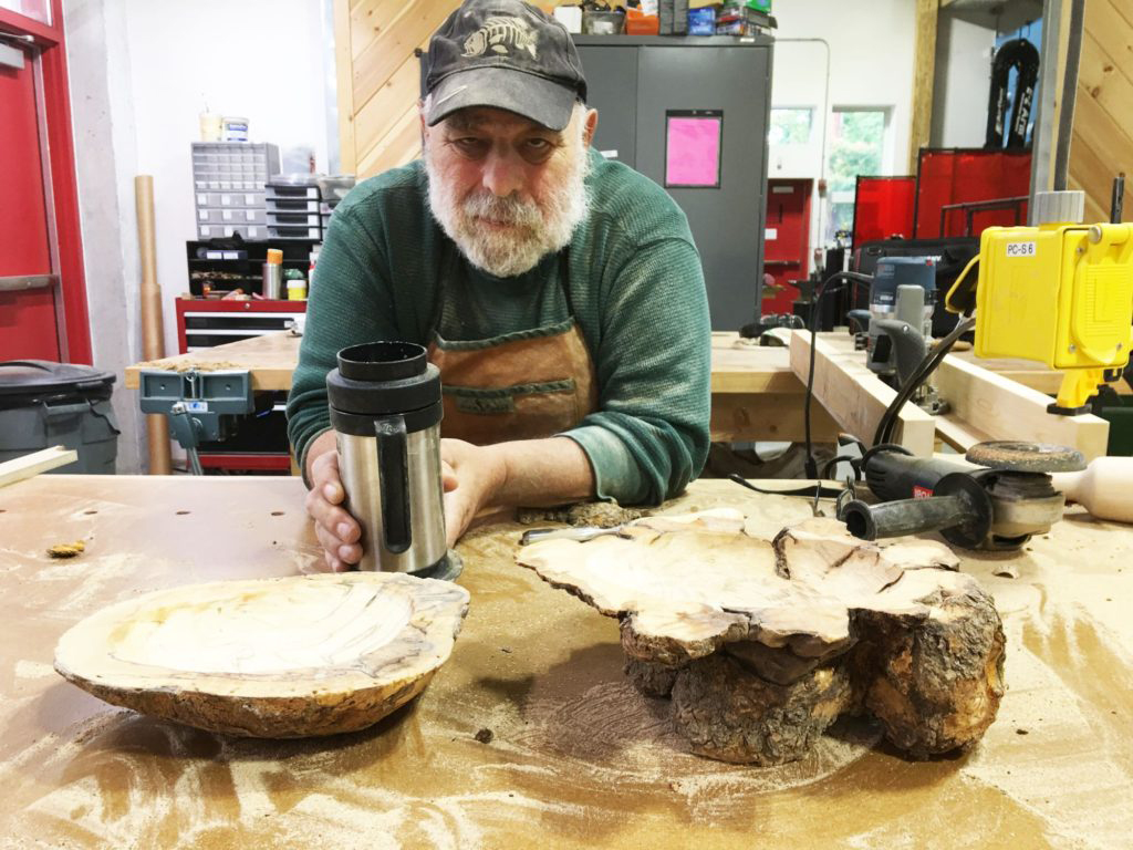 Jay Singh teaches woodworking